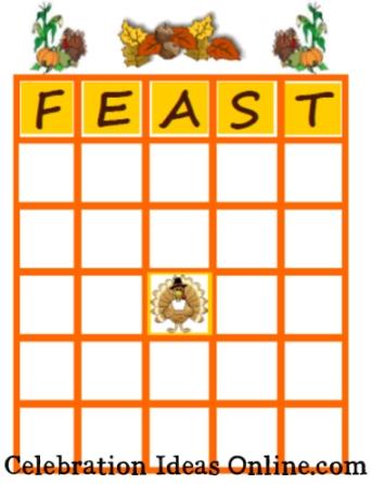 printable thanksgiving game