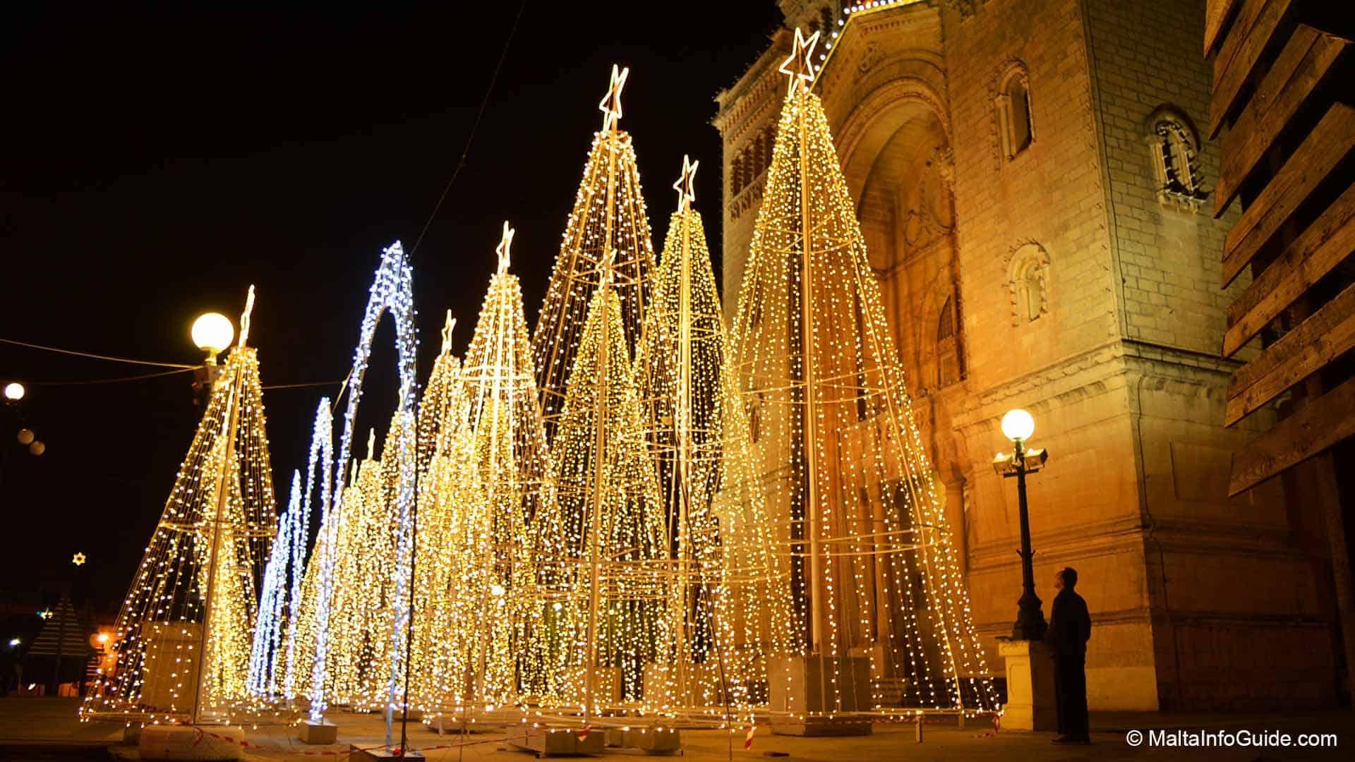 The iconic Christmas Trees in Birzebbugia