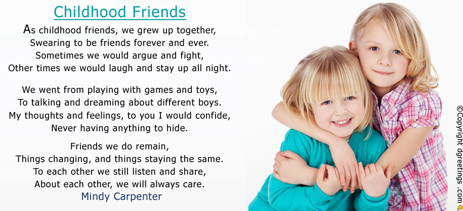 Poems love friendship and about short A Short