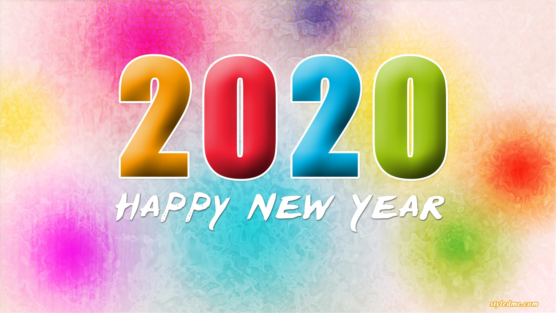 Happy New Year 2020 wallpaper full hd pic free download with wishes